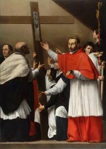 San Carlo Borromeo - La tela dopo il restauro